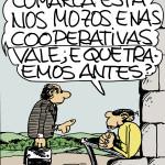 """Ilustración de Xosé Lois Gonzáelz """"O Carrabouxo"""" para o libro """"Galicia, Comunidade cooperativa"""" editado polo XX aniversario de AGACA"""